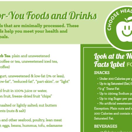 Choose Healthy Now Snack Criteria