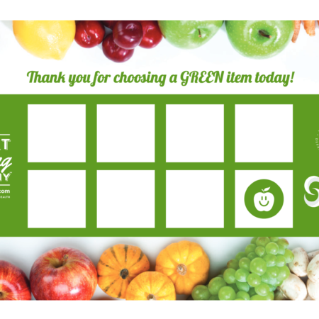 Choose Healthy Now Punch Card